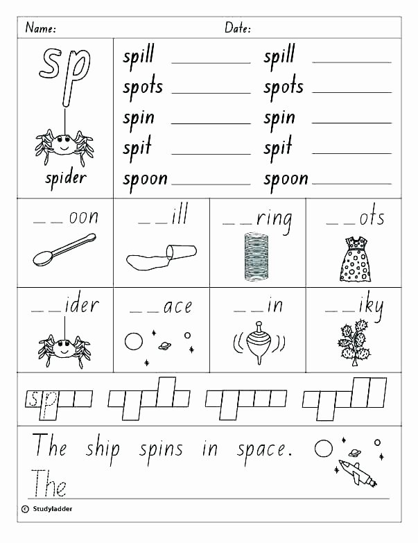 Free Ending sounds Worksheets Phonics Blends Worksheets Free Blends Worksheets Free