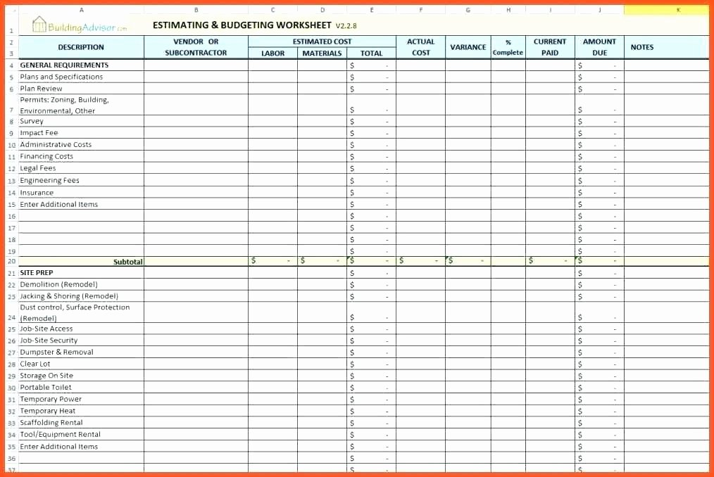 Free Estimation Worksheet Beautiful Free Printable Estimation Worksheets Construction Estimating