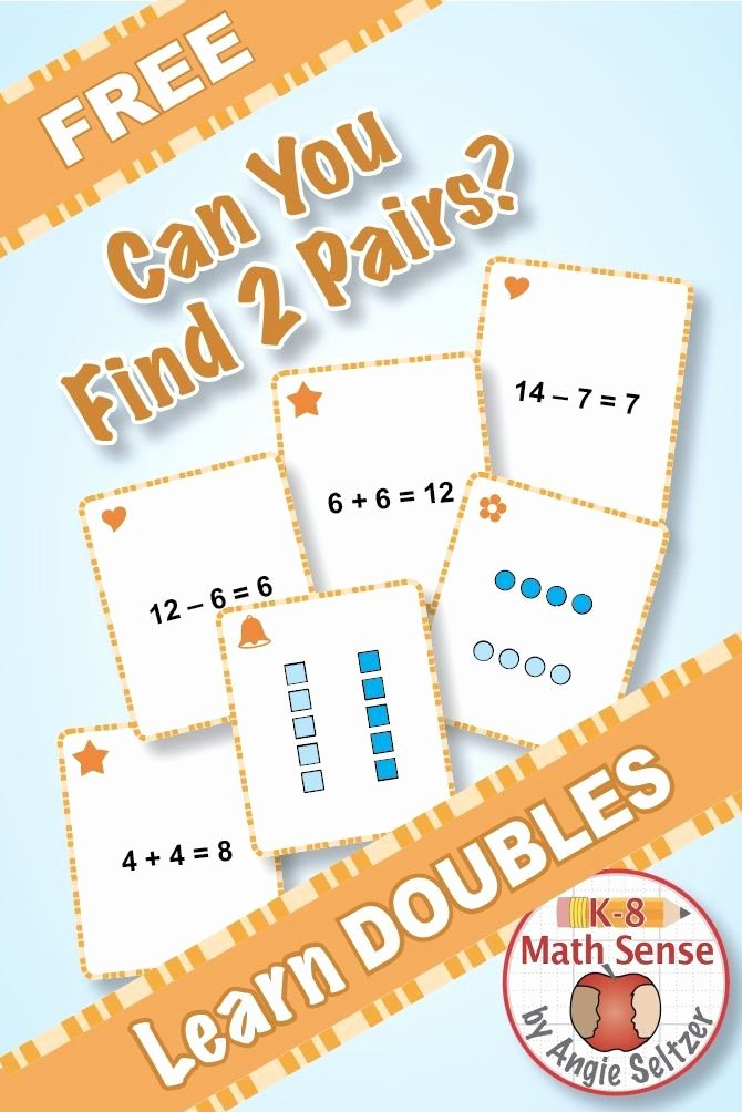 Free Fact Family Worksheet Doubles Fact Families Cards these 40 First Grade Addition