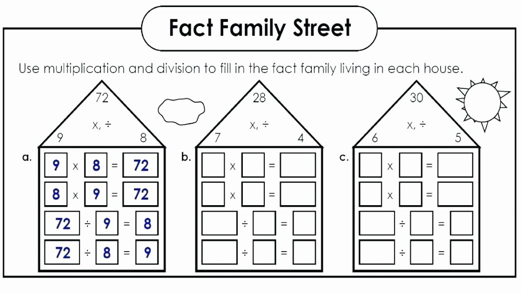 Free Fact Family Worksheet Fact Triangle Template – Grupofive