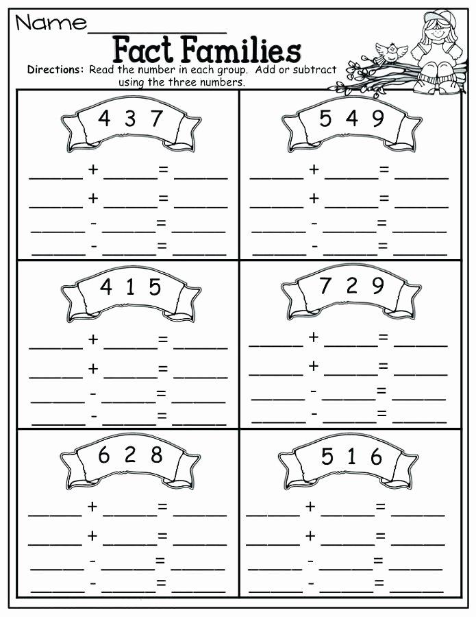 Free Fact Family Worksheet Family Printable Worksheets