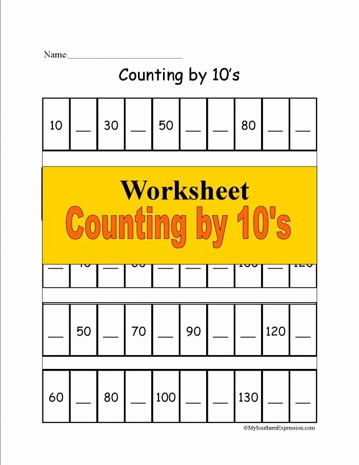 Free First Grade Fraction Worksheets Free 1st Grade Math Worksheet Counting 10s