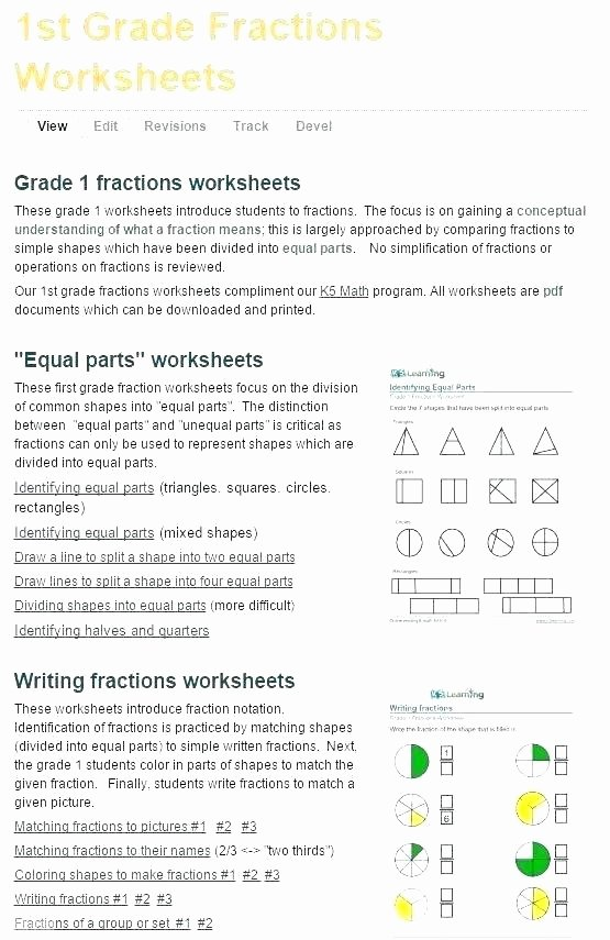 Free First Grade Fraction Worksheets Free Learning Cursive Writing Worksheets Alphabet Worksheet