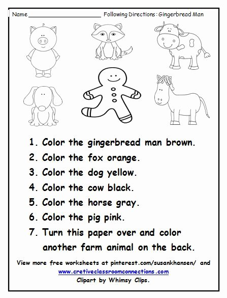 Free Following Directions Worksheets Tracy Julien Tracyjulien1800 On Pinterest