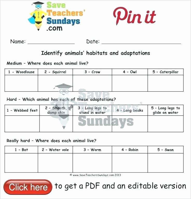 Free Habitat Worksheets 1 Ga 2 Worksheets
