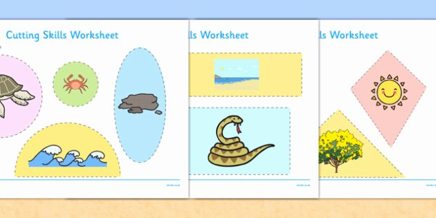 Free Habitat Worksheets Australian Beach Habitat Cutting Skills Worksheet