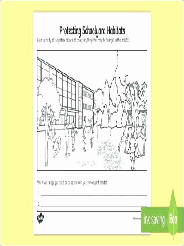 Free Habitat Worksheets Vaap Worksheets
