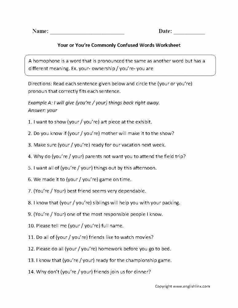 Free Homophone Worksheets A Free Printable Homophone Worksheets High School