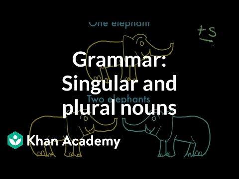 Free Irregular Plural Nouns Worksheet Introduction to Singular and Plural Nouns Video