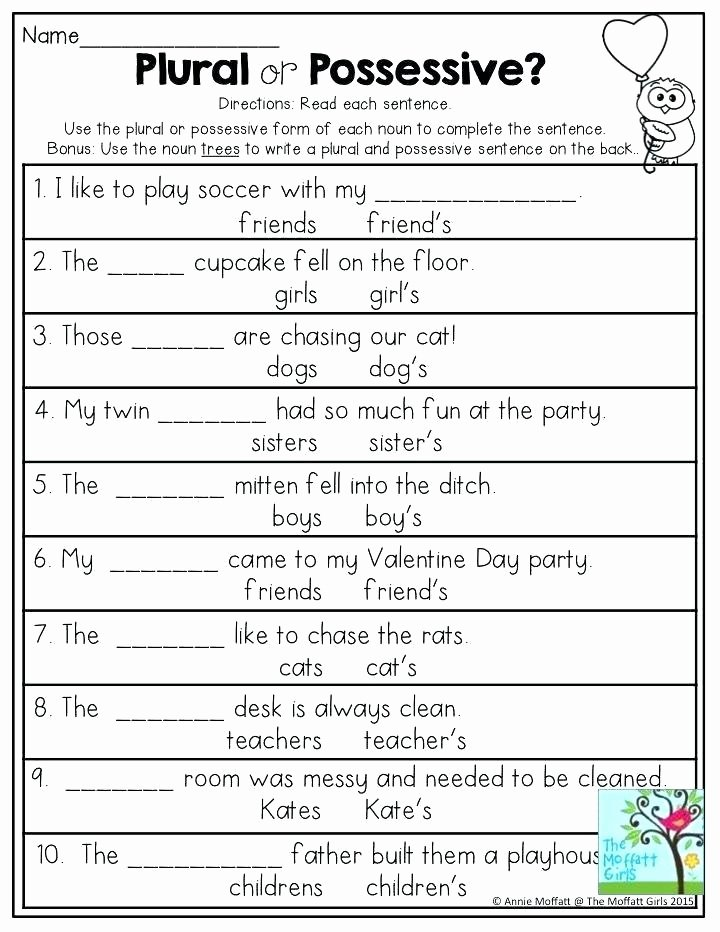 Free Irregular Plural Nouns Worksheet Noun Worksheets Proper for Grade Free Singular and Plural