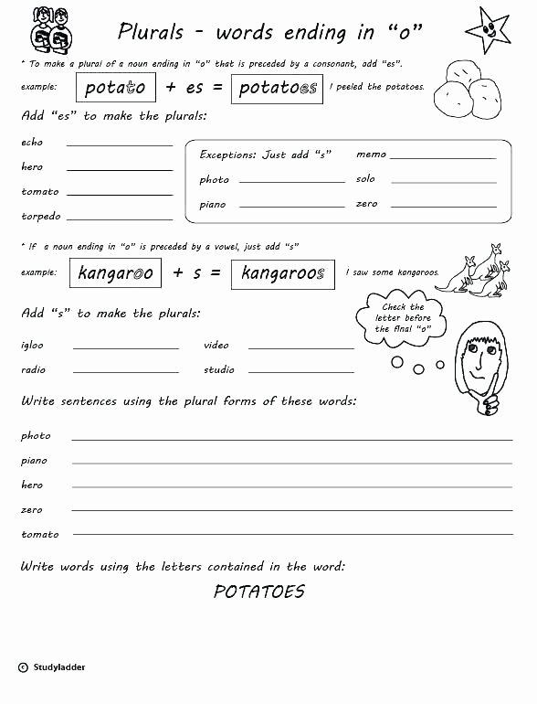 Free Irregular Plural Nouns Worksheet Worksheets Irregular Plural Nouns Lovely Singular and
