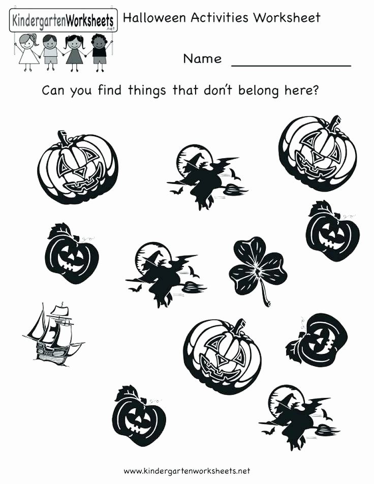 Free Kindergarten Halloween Worksheets Printable Halloween Worksheets