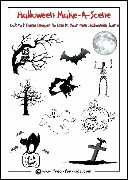 Free Kindergarten Halloween Worksheets Printable Preschool Skeleton Printable
