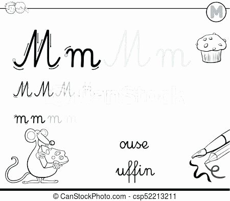 Free Letter M Worksheets K Tracing Worksheet T Printable Alphabet Worksheets Letter