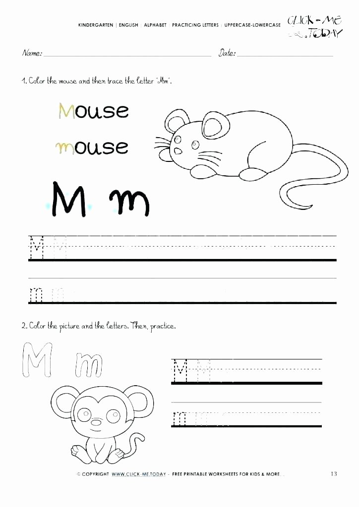 Free Letter M Worksheets Preschool Alphabet Worksheets Free Printables