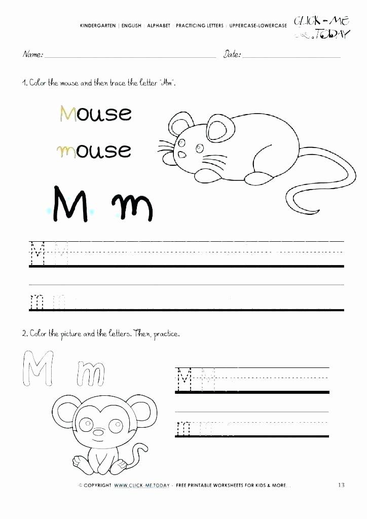 Free Letter M Worksheets Preschool Alphabet Worksheets Free Printables