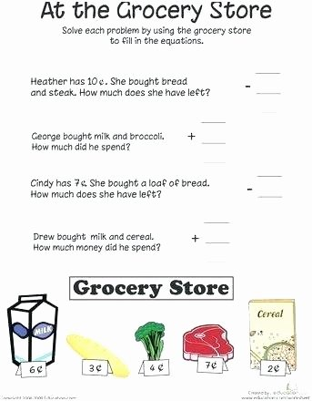 Free Life Skills Worksheets Free Life Skills Worksheets for Students Behavior Grocery