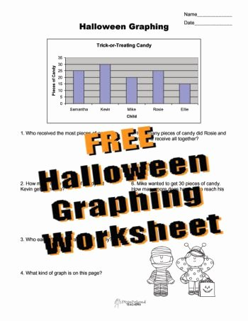 Free Line Graph Worksheets Squarehead Teachers Free Halloween Graphing Worksheet for