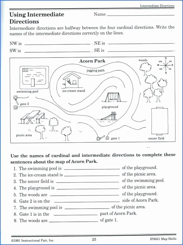 Free Map Skills Worksheets Kids Map Skills Worksheets social Stu S New Inference