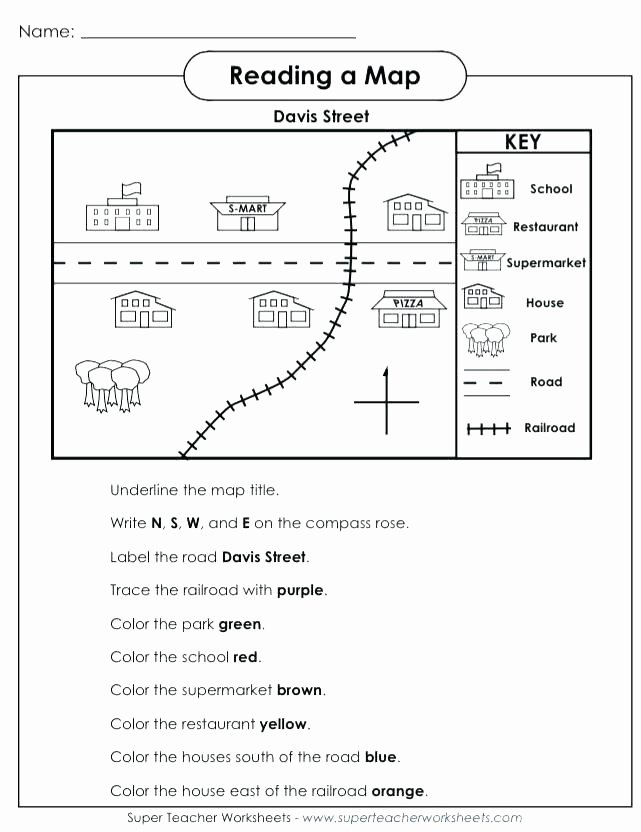 Free Map Skills Worksheets Printable Geography Worksheets
