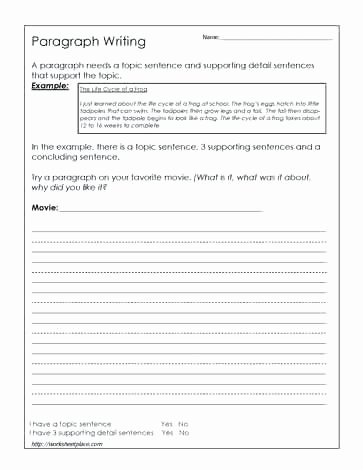 Free Paragraph Writing Worksheets Writing Good Paragraphs Worksheets Left Spelling Worksheets