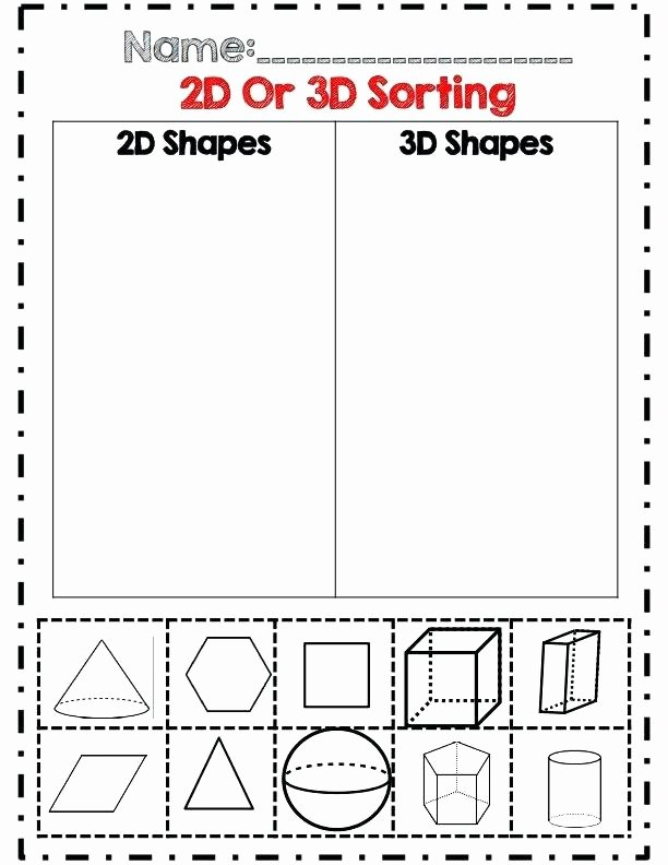 Free Printable 3d Shapes Worksheets 3d Geometry Worksheets Shapes Worksheets Drawing 3d Shapes