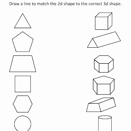Free Printable 3d Shapes Worksheets 3d Shapes Worksheets Kindergarten