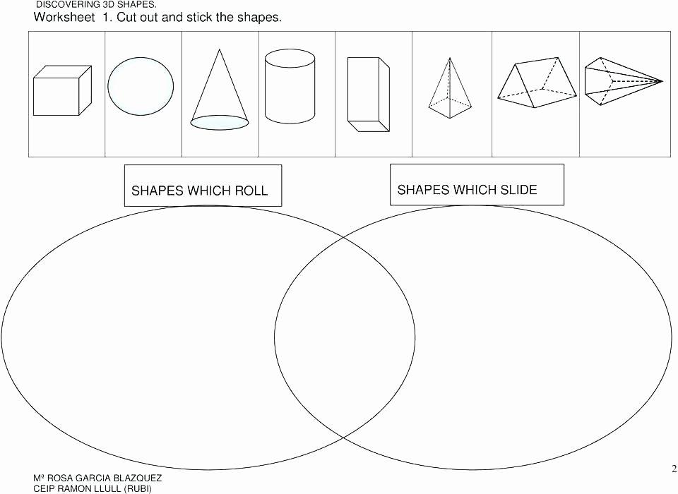 Free Printable 3d Shapes Worksheets Grade 3 Math 3d Shapes Worksheets – Kcctalmavale