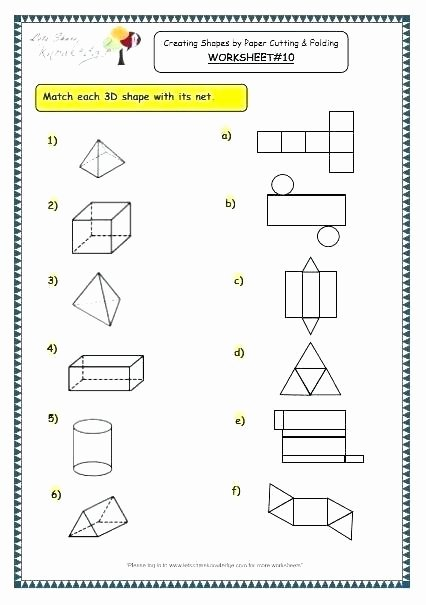 Free Printable 3d Shapes Worksheets Grade Geometry Worksheets 3 D Shapes 2d and 3d 7 Free