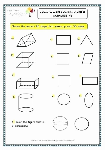 Free Printable 3d Shapes Worksheets Second Grade Shapes Worksheets