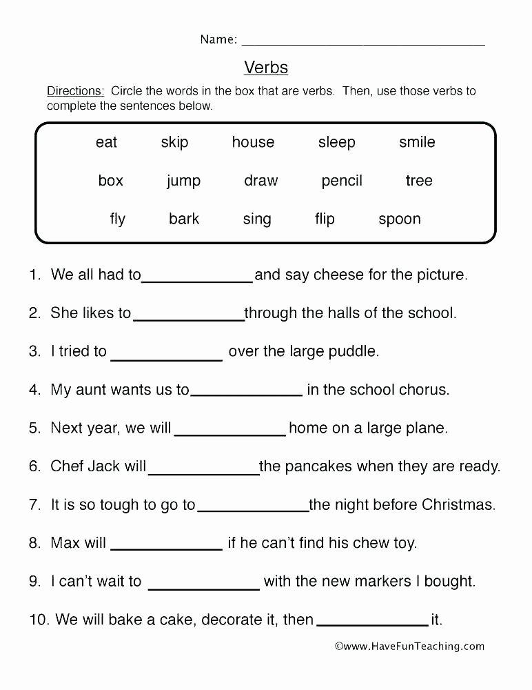 Free Printable Adjective Worksheets Teaching Adjectives Worksheets Tree Resource Free Adjective