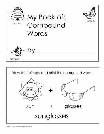 Free Printable Compound Word Worksheets Free Book Of Pound Words Kids Fill Out All the Words