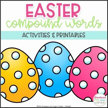 Free Printable Compound Word Worksheets Pound Words Activities and Printables Easter