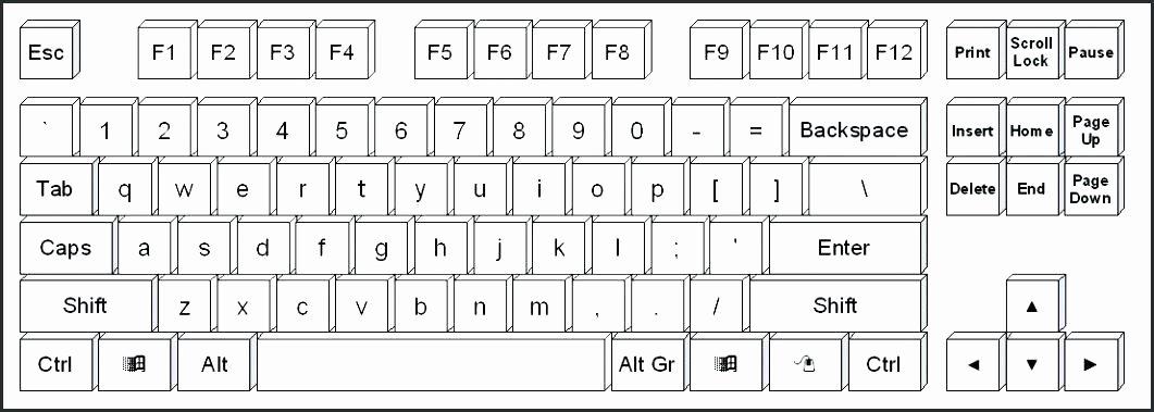 Free Printable Computer Keyboarding Worksheets Beautiful Qwerty Keyboard Template Printable Floss Papers