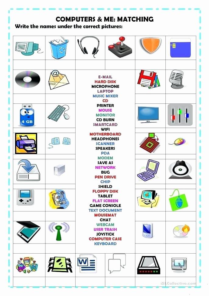 Free Printable Computer Keyboarding Worksheets Unique Puter Technology Worksheets