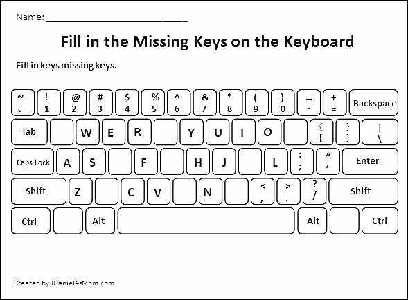 Free Printable Computer Keyboarding Worksheets Unique Qwerty Keyboard Template Printable Floss Papers
