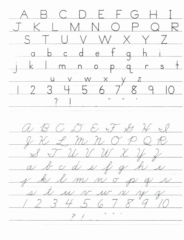 Free Printable Cursive Alphabet Chart Cursive Writing Chart Printable Worksheets