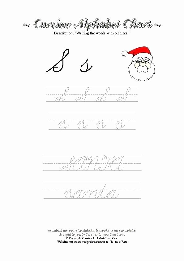 Free Printable Cursive Alphabet Chart Free Printable Letter Writing Worksheets