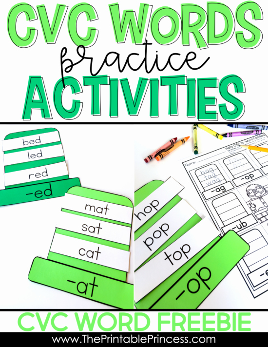 Free Printable Cvc Worksheets Cvc Words What are they and why are they Important