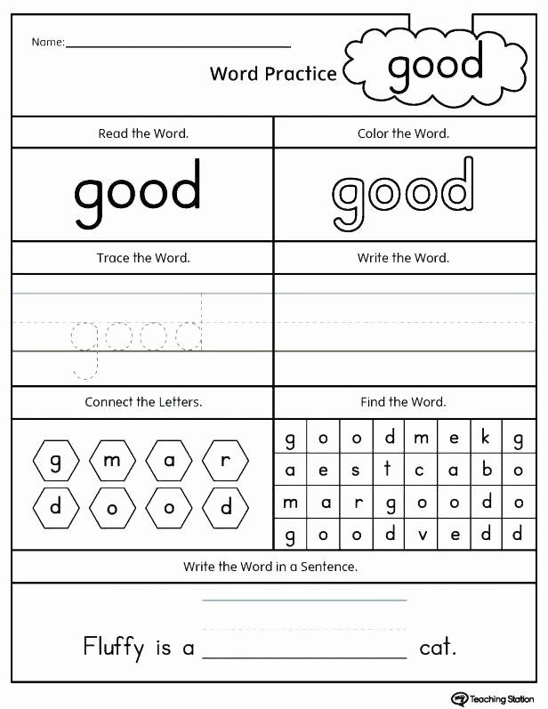 Free Printable Cvc Worksheets Words Kindergarten Secret Grade Printable Worksheets Words