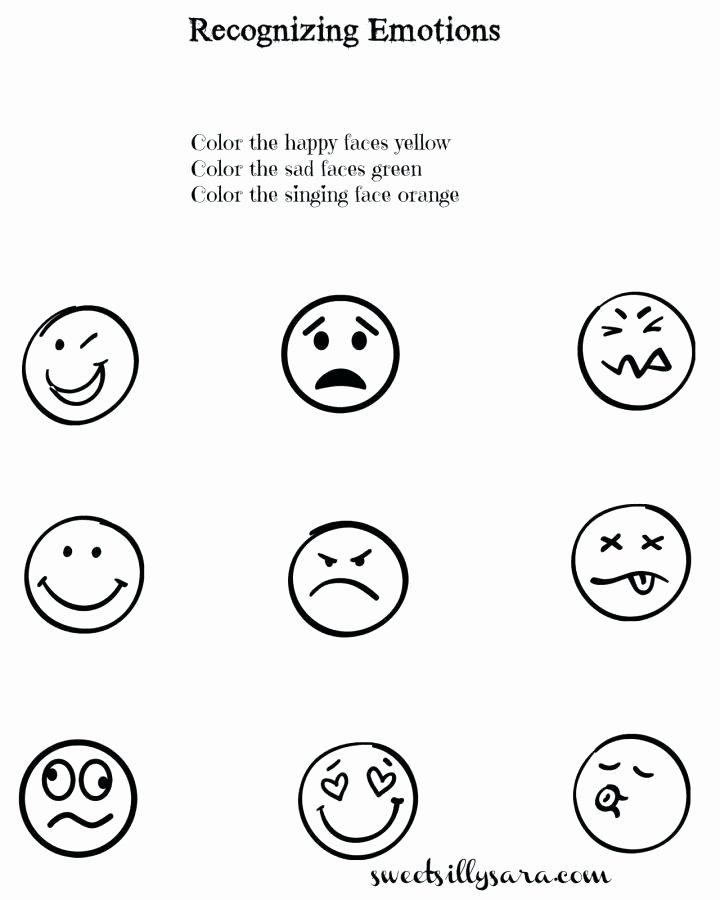 worksheet emotions and feelings worksheets for kids emotion free kindergarten