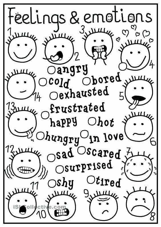 Free Printable Feelings Worksheets Feelings Worksheets for Kindergarten
