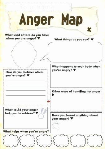 Free Printable Feelings Worksheets Free Anger and Feelings Worksheets for Kids Work Map A Fun