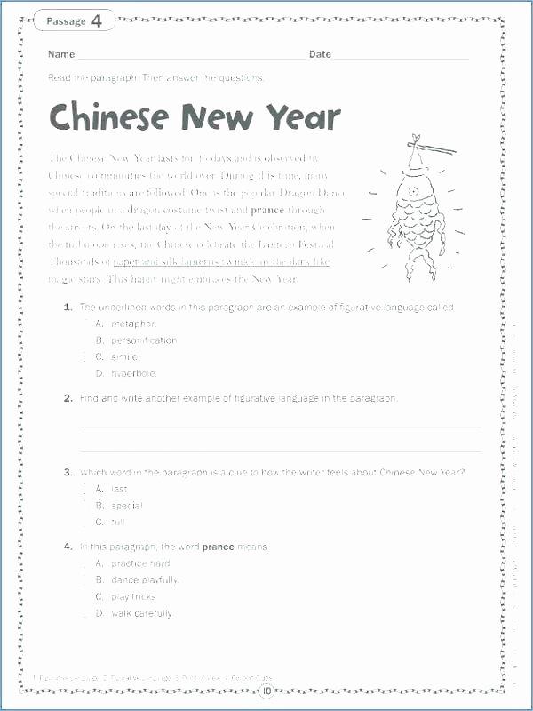 Free Printable Figurative Language Worksheets Figurative Language Worksheets 6th Grade Literal and Third