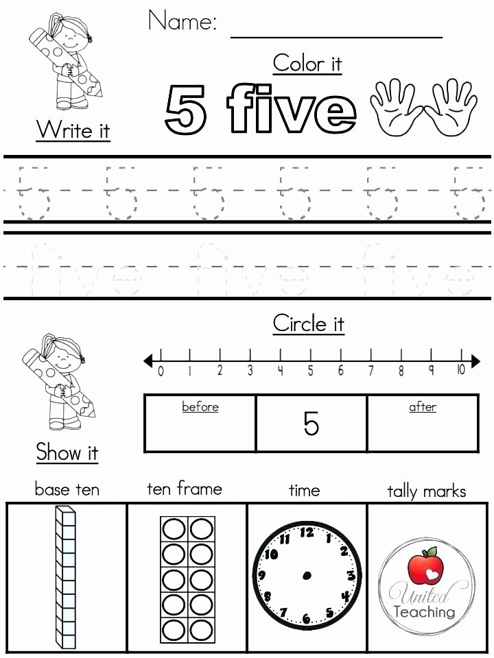 Free Printable Five Senses Worksheets Number Sense Worksheets Kindergarten Counting Numbers for