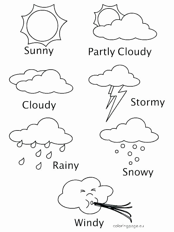 Free Printable Five Senses Worksheets Rain Worksheets for Preschool