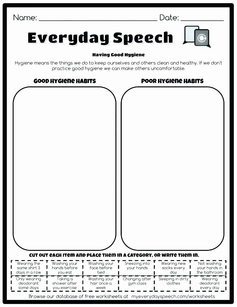 Free Printable Health Worksheets Kindergarten Health Worksheets Free Printable Food Safety