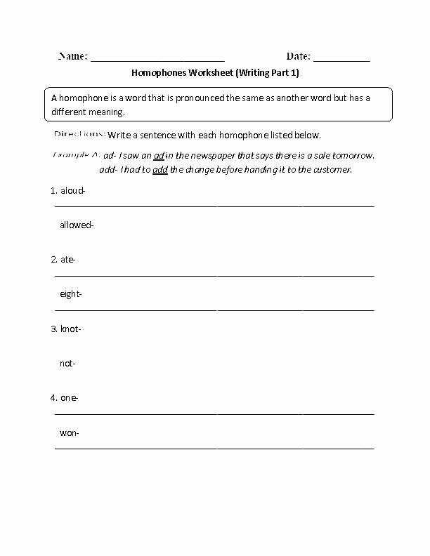 Free Printable Homophone Worksheets Free Printable Homophone Worksheets for Third Grade there