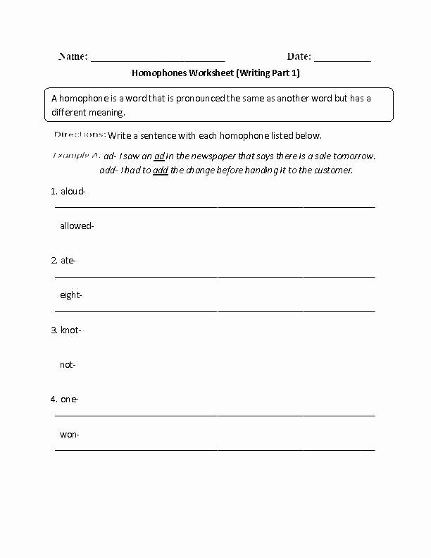 Free Printable Homophone Worksheets Free Printable Homophone Worksheets for Third Grade there