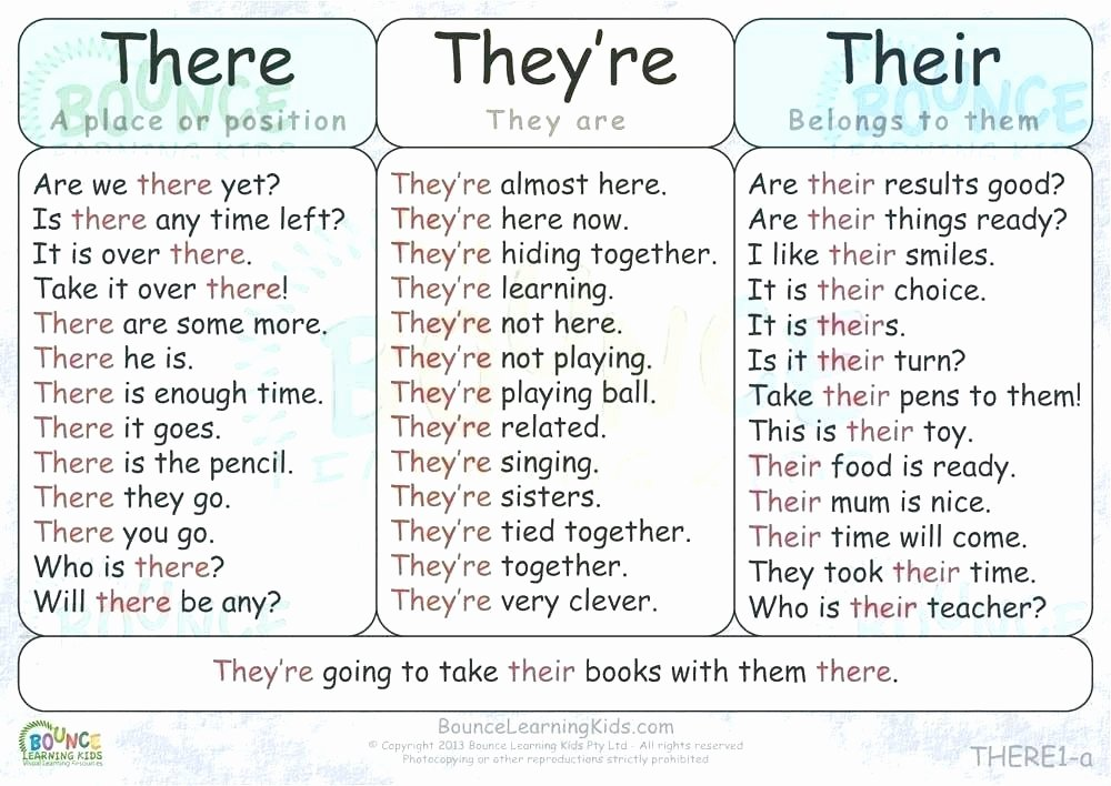Free Printable Homophone Worksheets their there they Re Worksheets